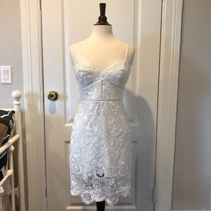 bebe  NEW Mid-Length Lace and Sequin Dress